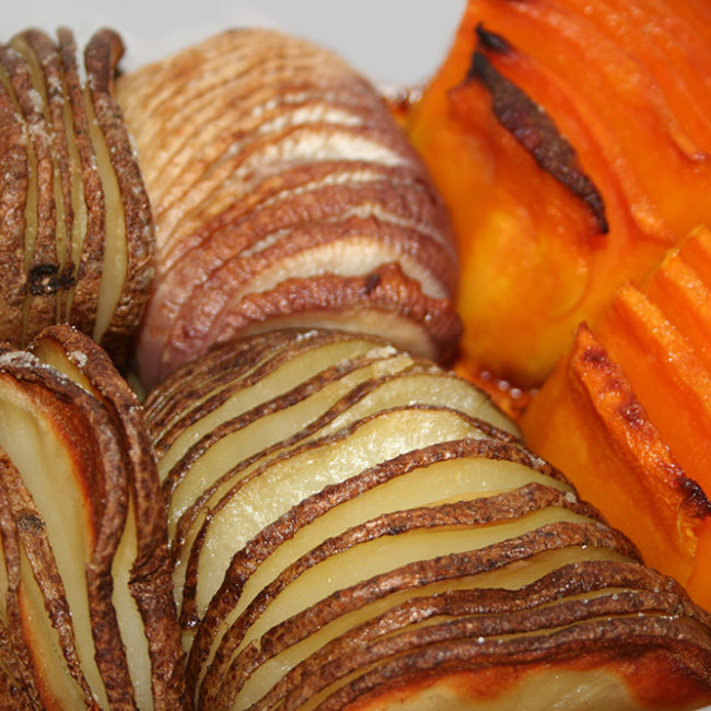 Hasselback Root Veggies